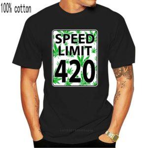 Funny Cannabis Shirts Australia - Speed Limit 420