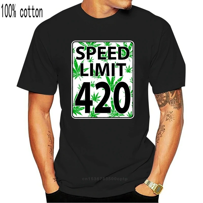 Funny Cannabis Shirts Australia - Speed Limit 420